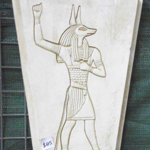 #5 - Egyptian Anubis Concrete Plaque (moss green)