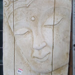 Large Buddha Face Concrete Wall Plaque