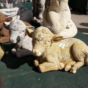 Concrete Calf Cow Statue