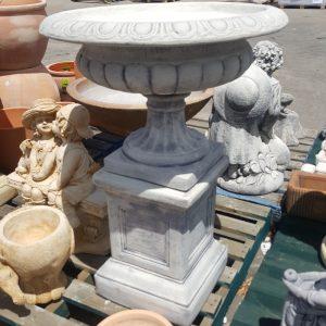 large jefferson urn and pedestal grey