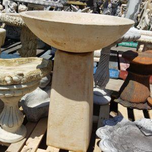 Deep Dish Concrete Birdbath