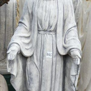 Small Mary of Grace Concrete Garden Statue Grey