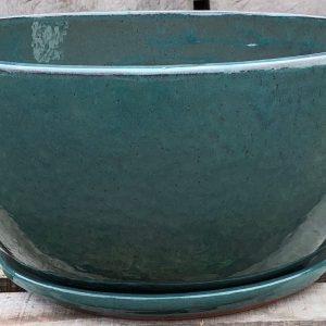 Audra Bowl Glazed Garden Pot