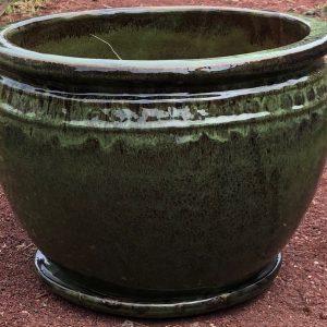 Coin Planter Glazed Garden Pot