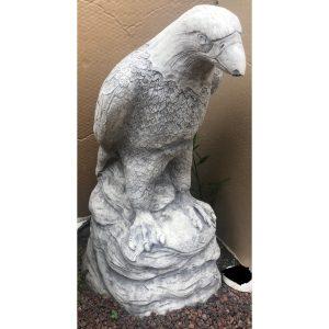Eagle on Rock Large Concrete Statue