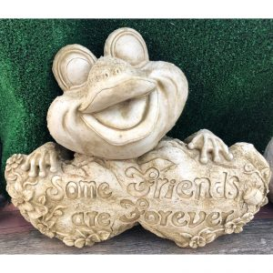Friends Forever Frog Concrete Statue