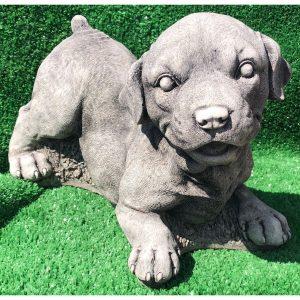 Happy Dog Concrete Statue