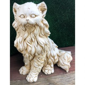 Long Hair Cat Concrete Statue