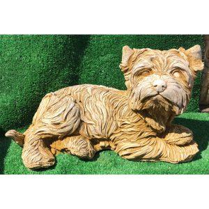 Maltese Terrier Concrete Statue