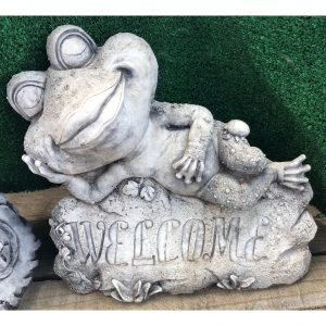 Sexy Welcome Frog Concrete Statue