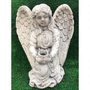 Angel Candle Holder Concrete Statue