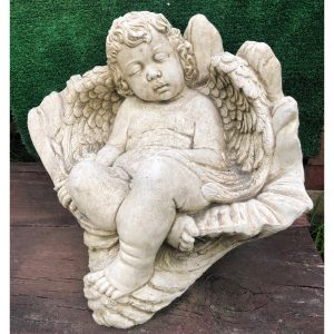 Angel in Shell Large Concrete Statue