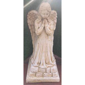 Angel on Step Praying Concrete Statue